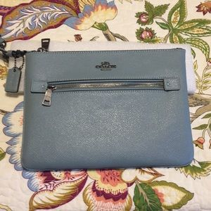 Coach Leather Gallery Pouch/Clutch